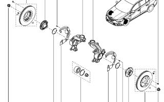 Замена заднего и переднего ступичного подшипника Renault Megane 2