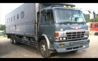 Видео Обзор грузовика Хино FR (Hino FR) 1991г. (Кабина, Салон, двигатель, будка).