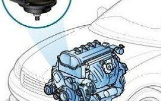 Подушка двигателя: принцип действия, назначение, устройство и замена