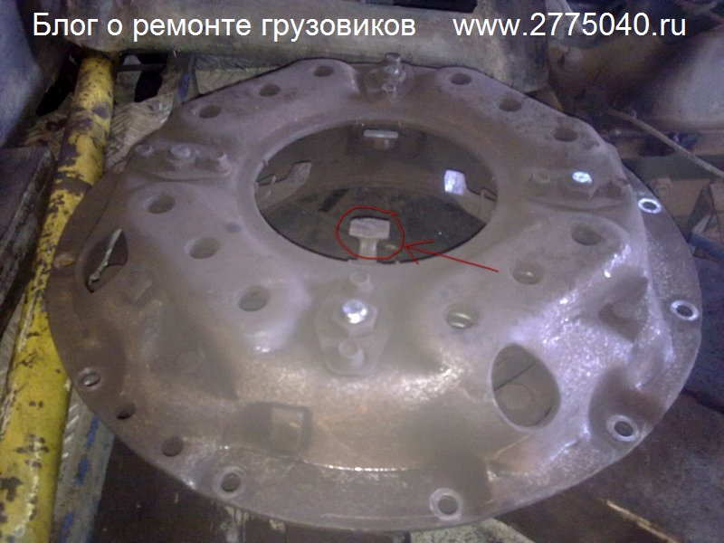 Исузу Гига (Isuzu Giga) Износ лапок корзины сцепления Автосервис «Первый» Владивосток
