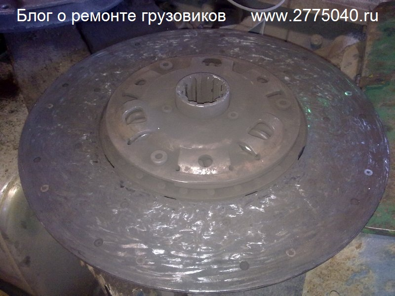 Изношенный диск сцепления Исузу Гига (Isuzu Giga) Автосервис «Первый» Владивосток