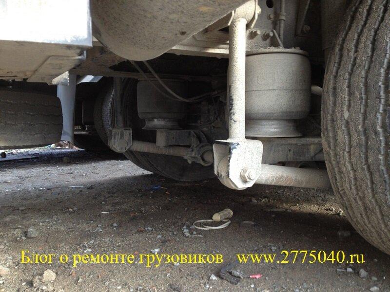 Ремонт пневмоподвески грузовика Исузу Гига ( Isuzu Giga )