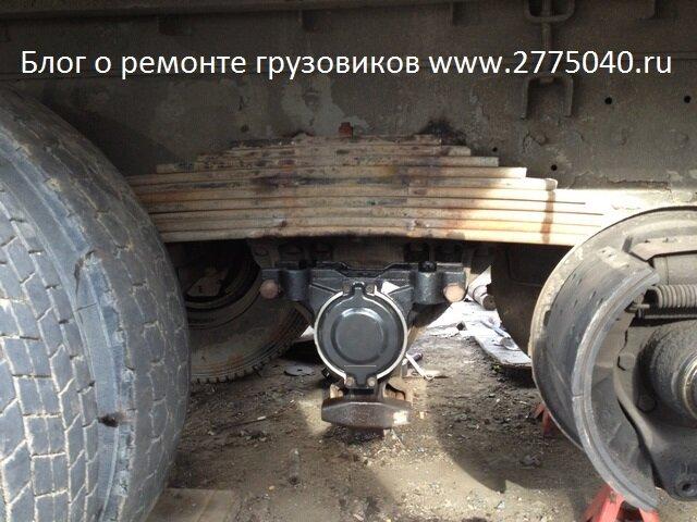 Восстановление буксы балансира Isuzu Giga (Исузу Гига). Автосервис «Первый». Владивосток.
