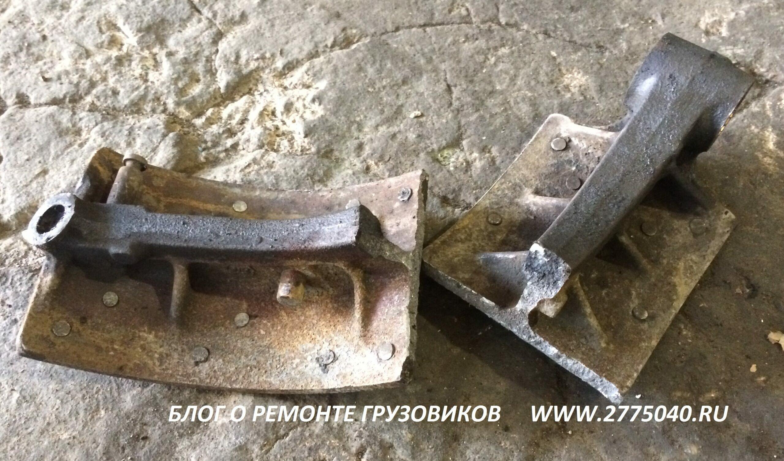 Исузу Гига (Isuzu Giga). Замена тормозной колодки. Автосервис » Первый «. Владивосток