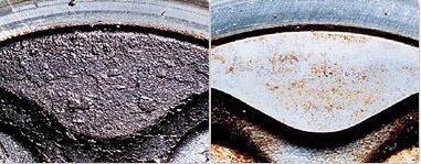 Головка Поршня До и После Безопасной Очистки
