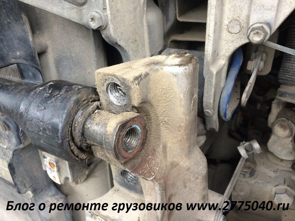Скания (Scania) Замена сайлентблока кабины Автосервис Первый. Владивосток