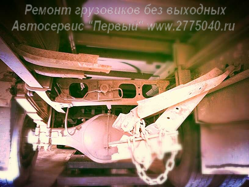 Лопнул лонжерон Фусо Файтер (Fuso Fighter). Автосервис Первый. Владивосток
