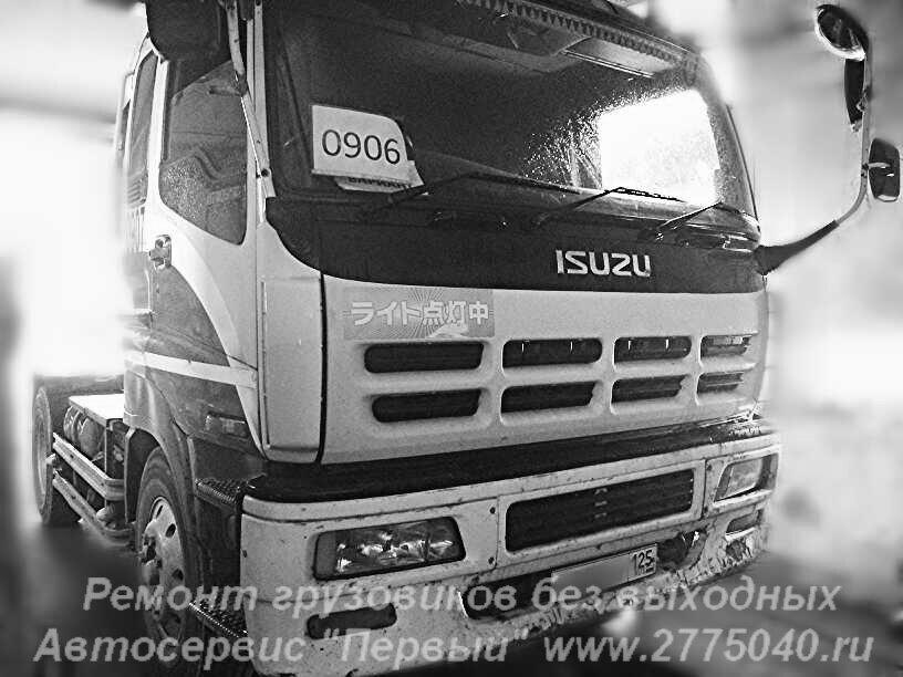 Roil Platinum работает вместе с тягачом Исузу Гига (Isuzu Giga )